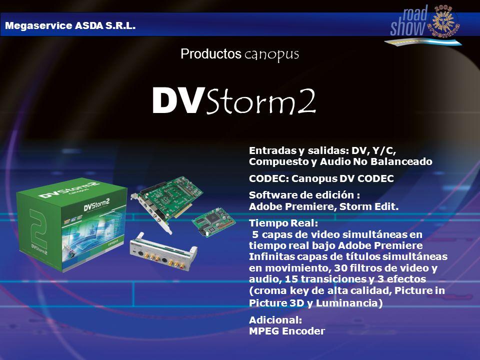 DVStorm2 Productos canopus Megaservice ASDA S.R.L.