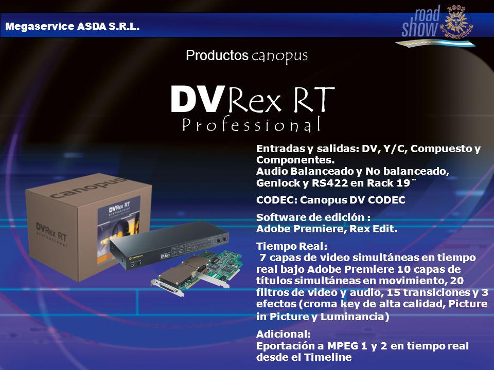 DVRex RT P r o f e s s i o n a l Productos canopus