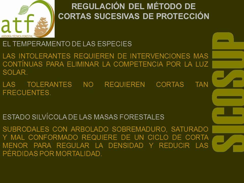 REGULACIÓN DEL MÉTODO DE CORTAS SUCESIVAS DE PROTECCIÓN