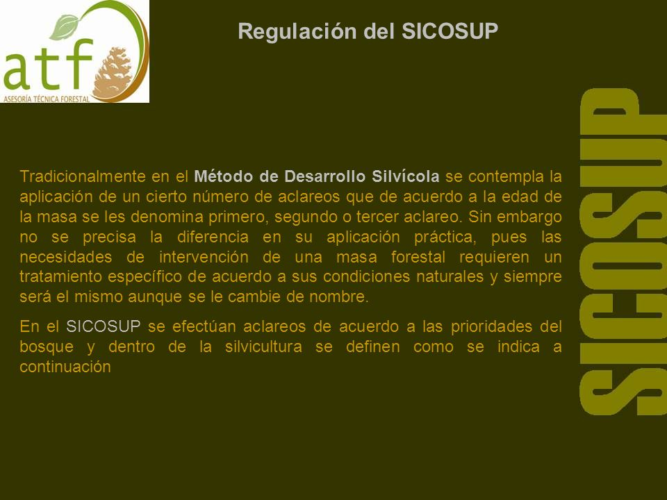 Regulación del SICOSUP