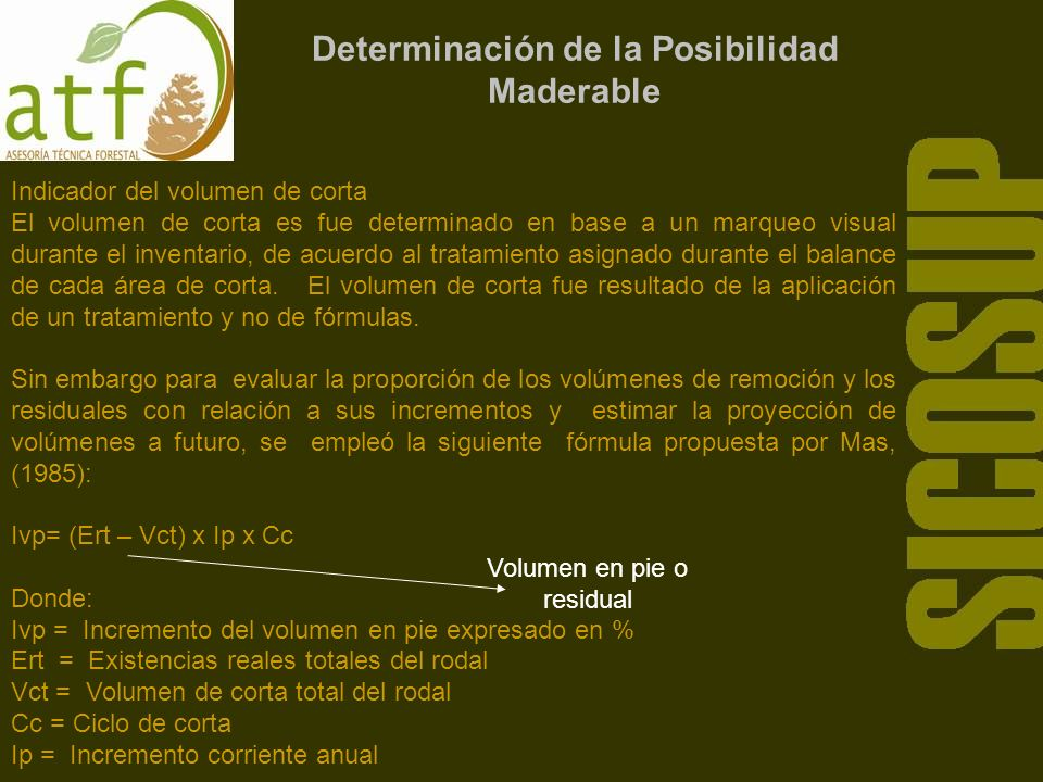 Determinación de la Posibilidad Maderable