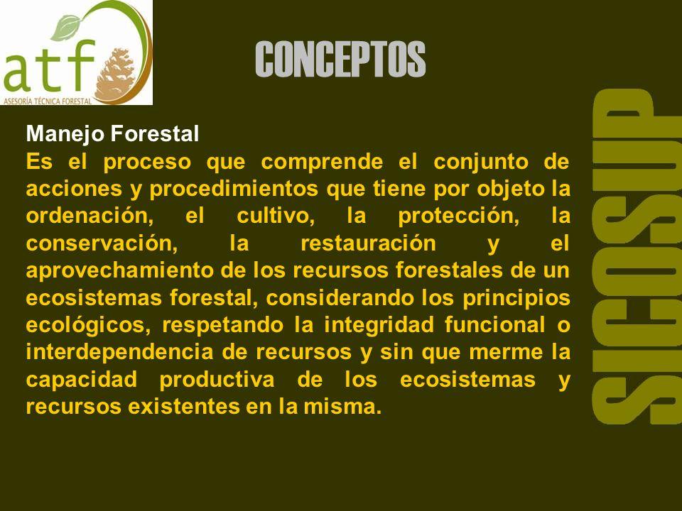 SICOSUP CONCEPTOS Manejo Forestal