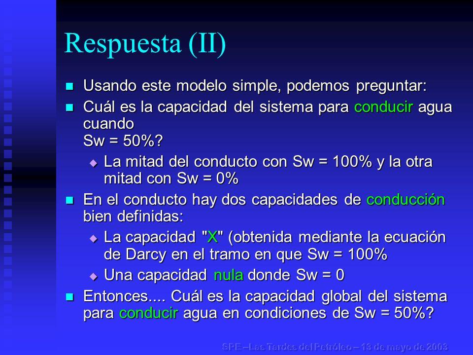 Respuesta (II) Usando este modelo simple, podemos preguntar: