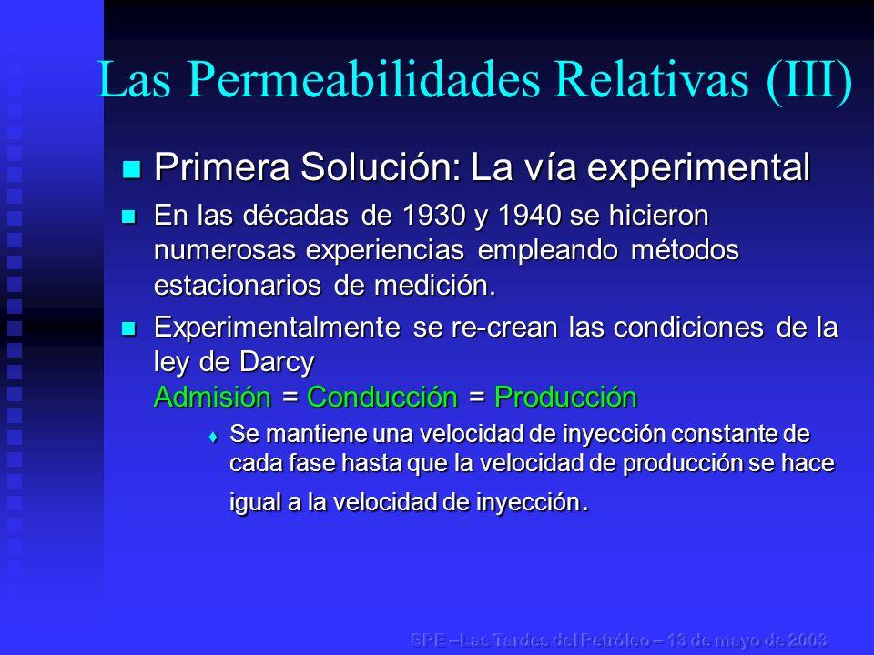 Las Permeabilidades Relativas (III)