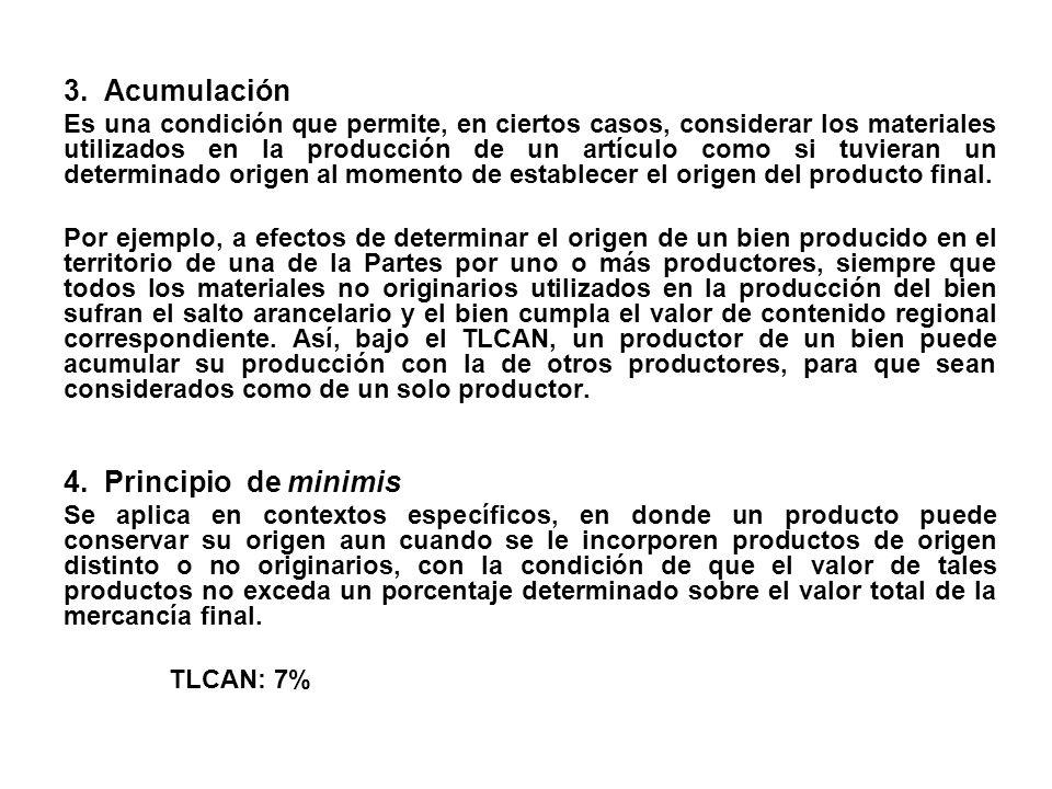 3. Acumulación 4. Principio de minimis