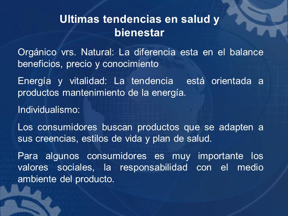 Ultimas tendencias en salud y bienestar