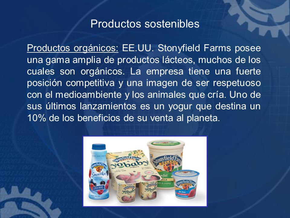 Productos sostenibles