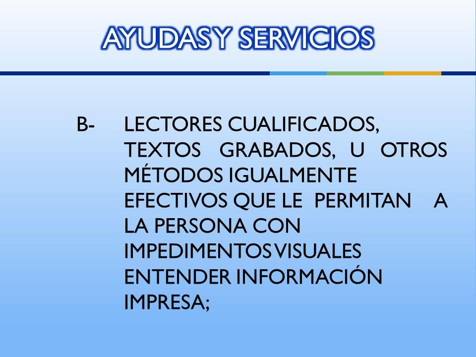 AYUDAS Y SERVICIOS