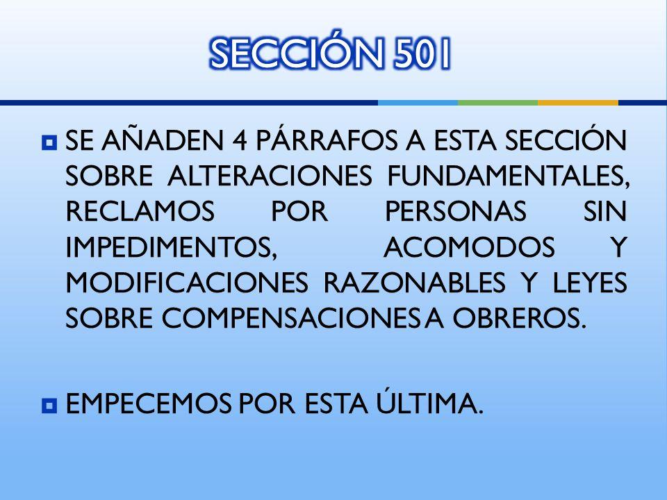 SECCIÓN 501
