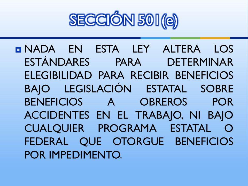 SECCIÓN 501(e)