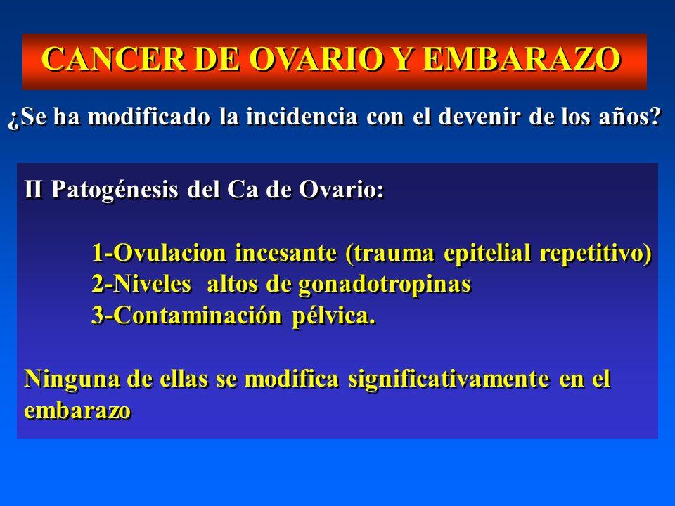 CANCER DE OVARIO Y EMBARAZO