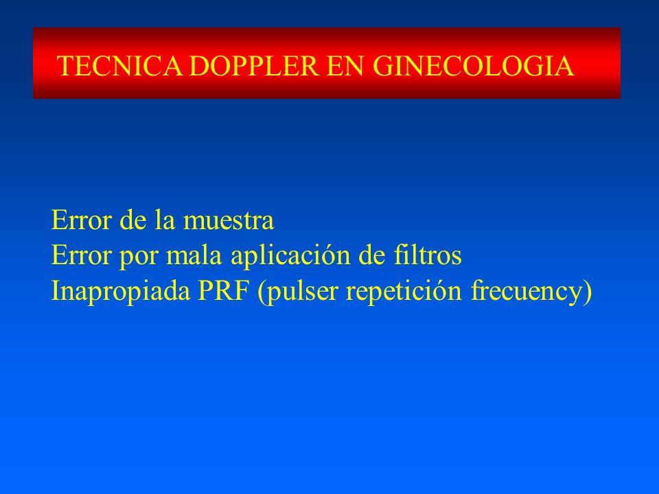 TECNICA DOPPLER EN GINECOLOGIA