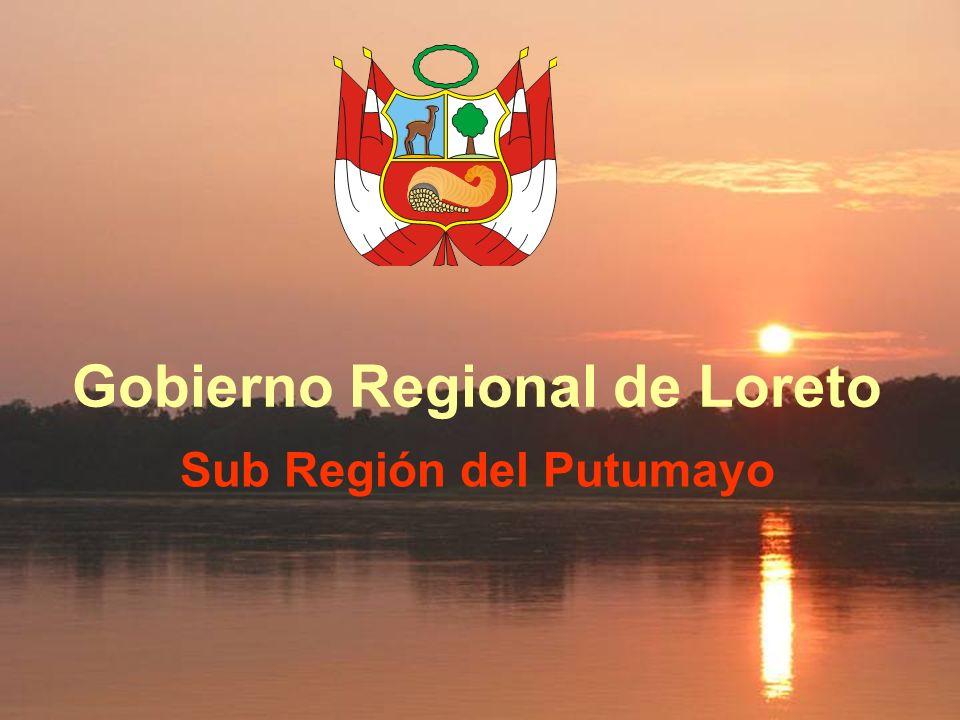 Gobierno Regional de Loreto Sub Región del Putumayo