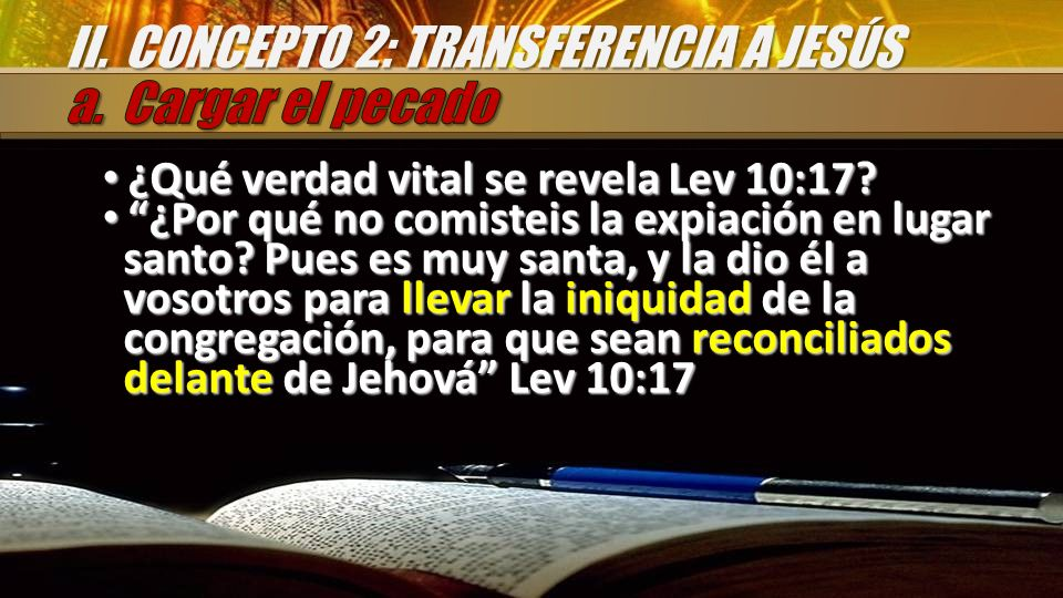 II. CONCEPTO 2: TRANSFERENCIA A JESÚS
