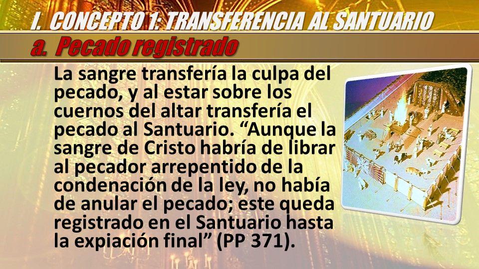 I. CONCEPTO 1: TRANSFERENCIA AL SANTUARIO