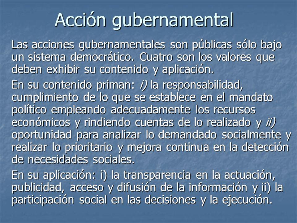 Acción gubernamental