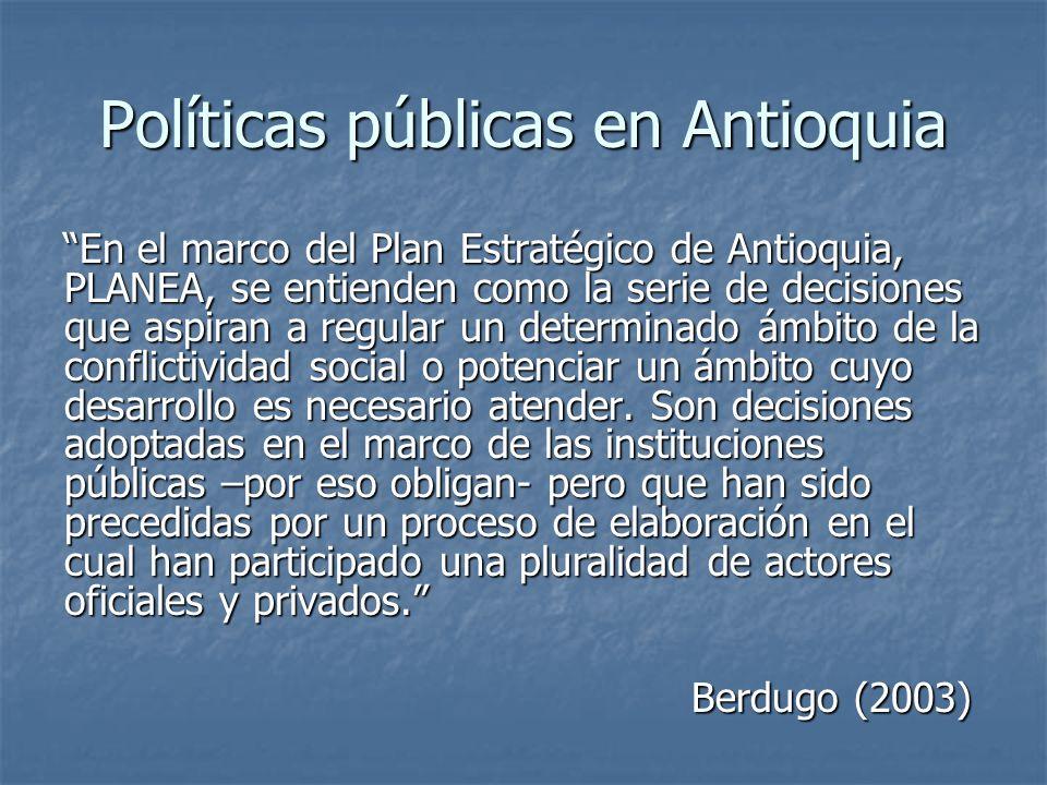 Políticas públicas en Antioquia
