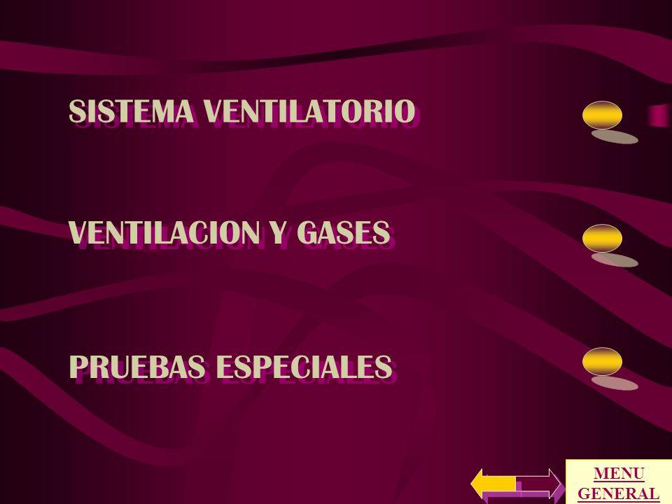 SISTEMA VENTILATORIO VENTILACION Y GASES PRUEBAS ESPECIALES MENU