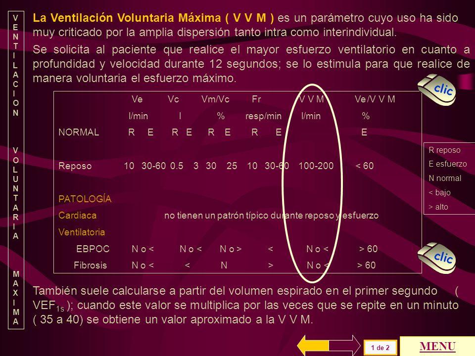 VENTILACION VOLUNTARIA. M. AXIMA.