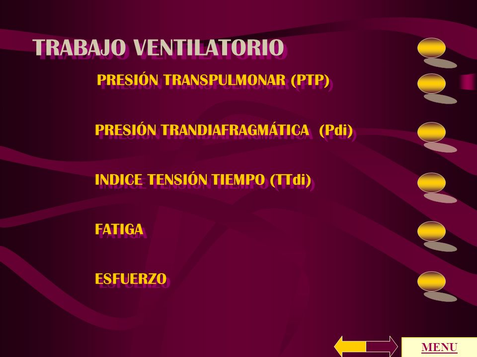 TRABAJO VENTILATORIO PRESIÓN TRANSPULMONAR (PTP)