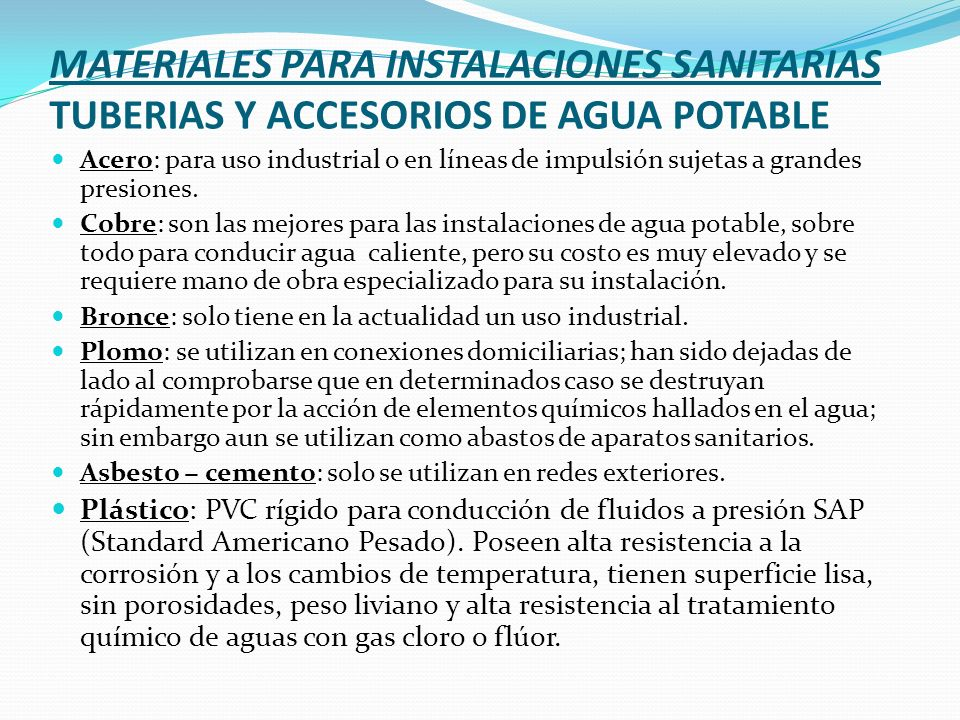 Instalacion de agua potable capasu moderniza sistemas de - Tuberias para agua potable ...