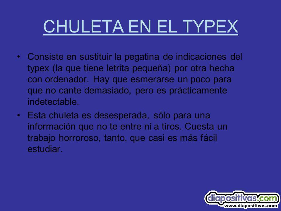 CHULETA EN EL TYPEX
