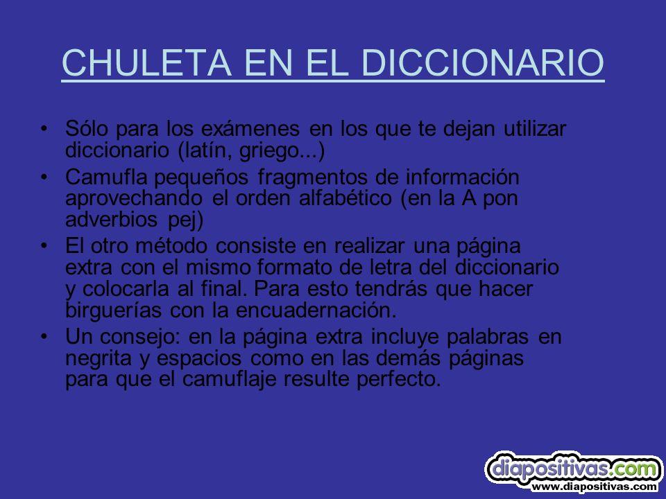 CHULETA EN EL DICCIONARIO