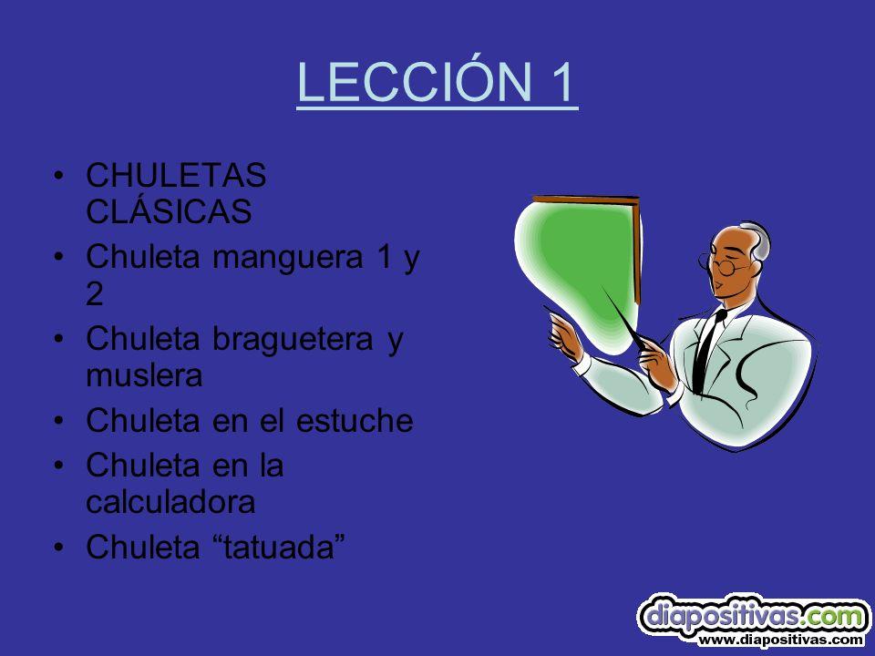 LECCIÓN 1 CHULETAS CLÁSICAS Chuleta manguera 1 y 2