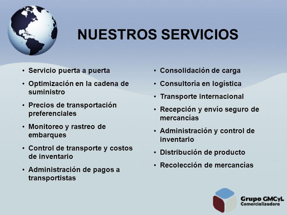 NUESTROS SERVICIOS Servicio puerta a puerta