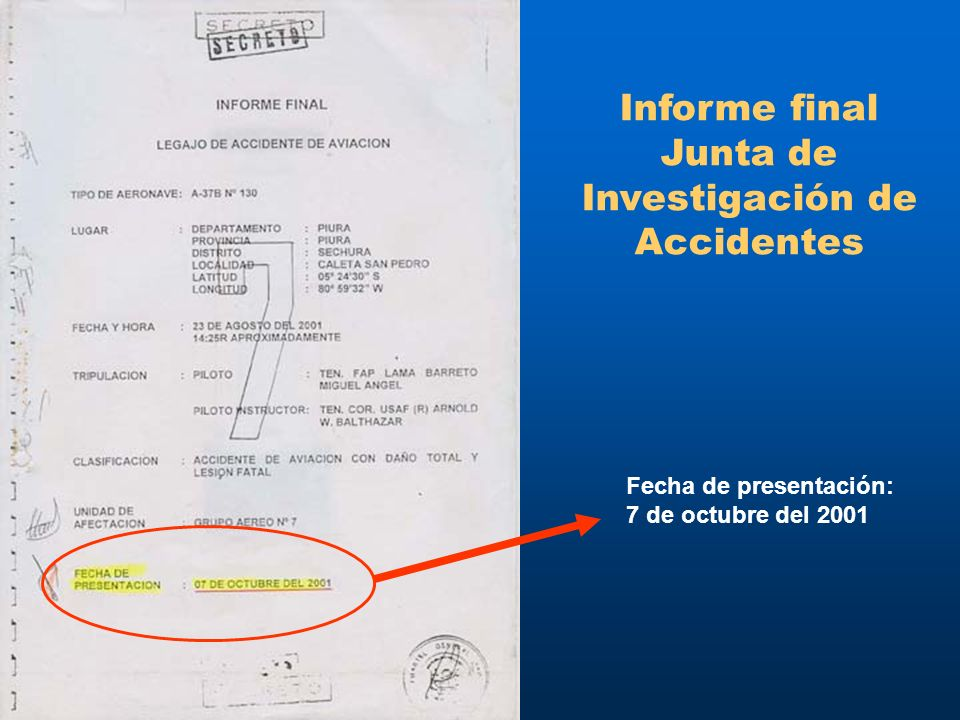Informe final Junta de Investigación de Accidentes