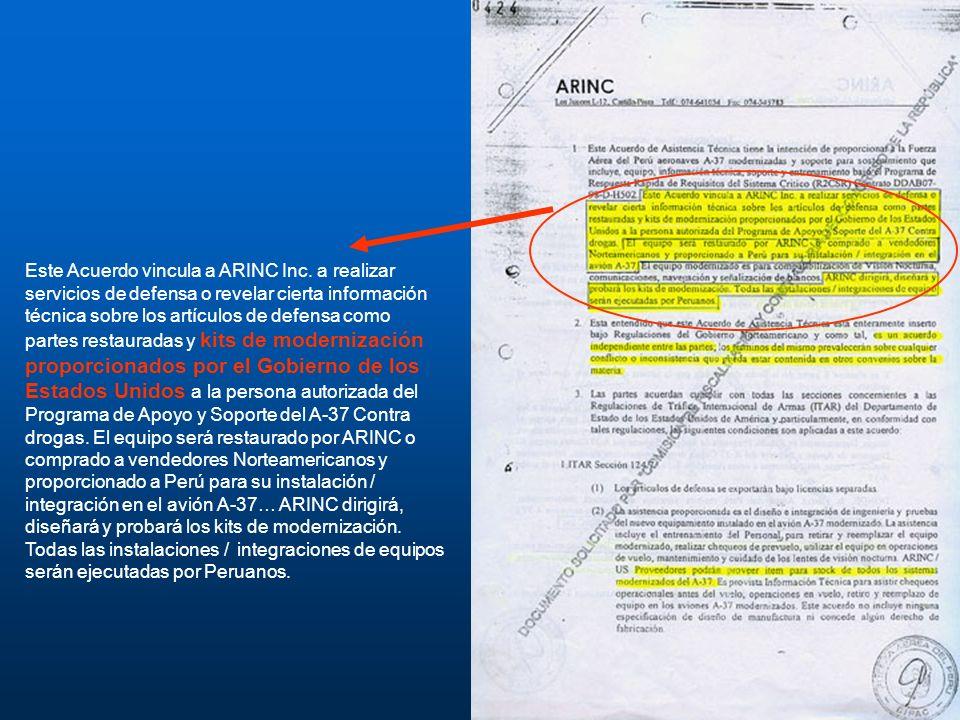 Este Acuerdo vincula a ARINC Inc