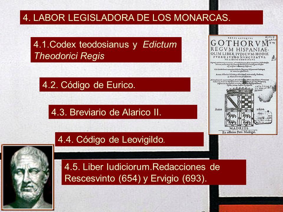 4. LABOR LEGISLADORA DE LOS MONARCAS.