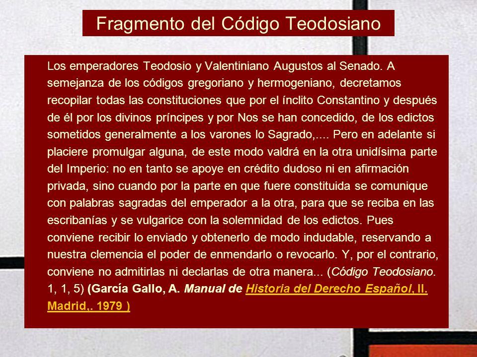 Fragmento del Código Teodosiano