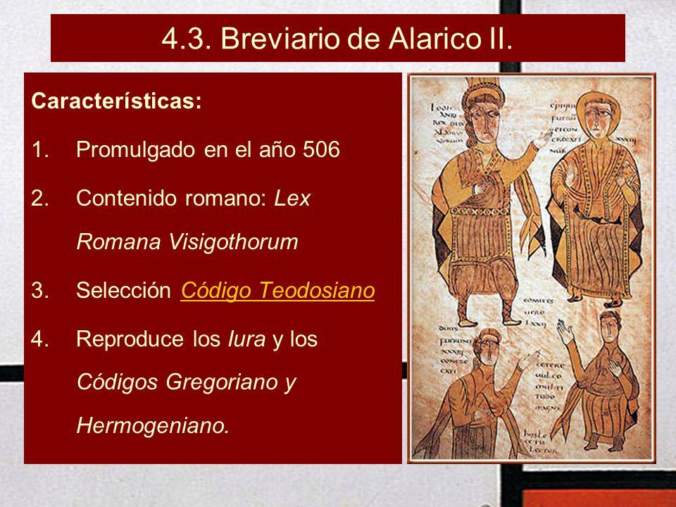 4.3. Breviario de Alarico II.