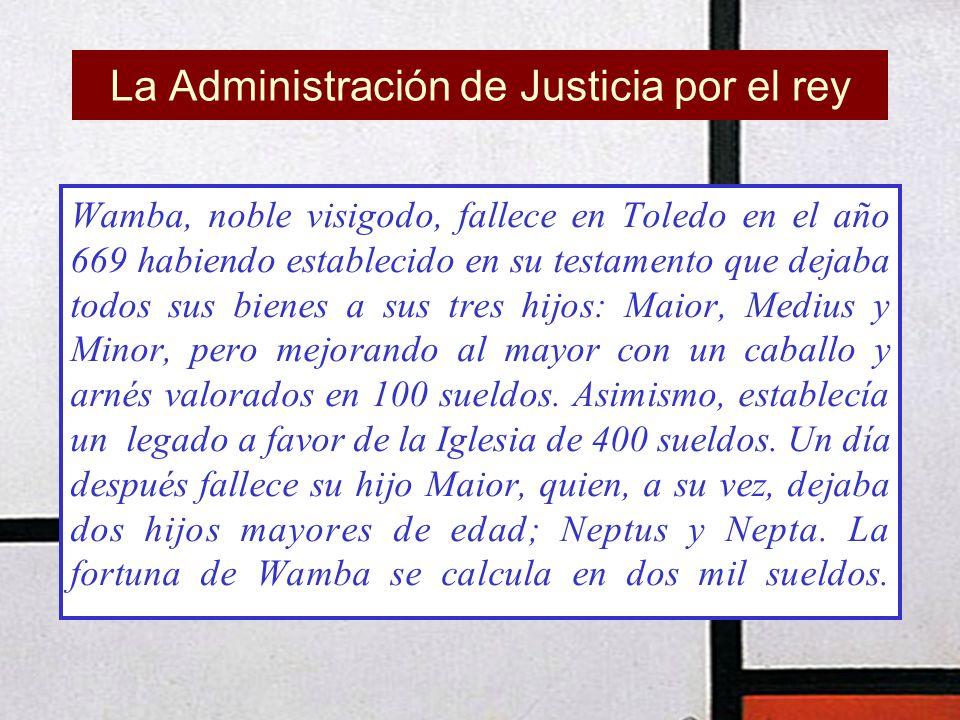 La Administración de Justicia por el rey
