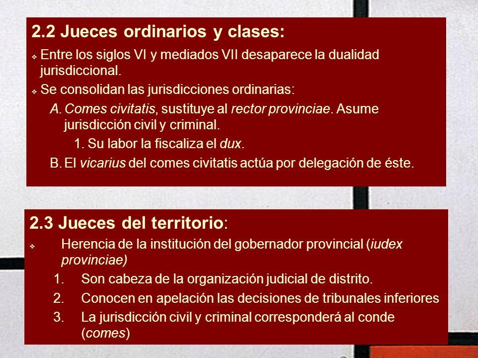 2.2 Jueces ordinarios y clases: