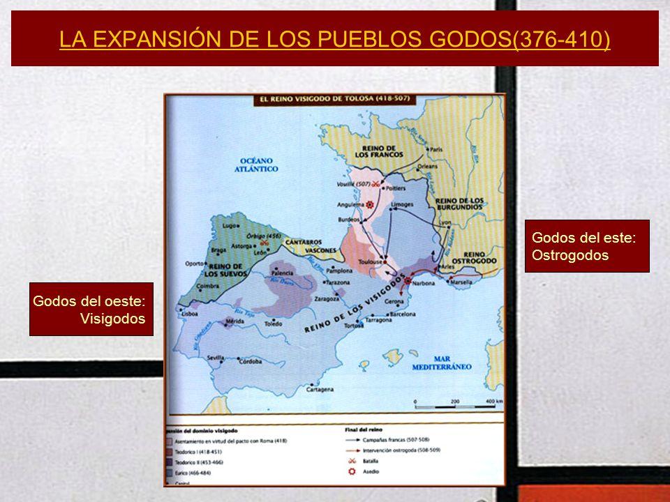 LA EXPANSIÓN DE LOS PUEBLOS GODOS(376-410)