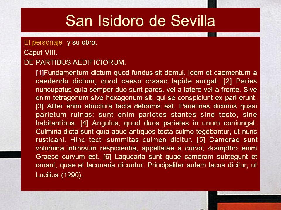 San Isidoro de Sevilla El personaje y su obra: Caput VIII.