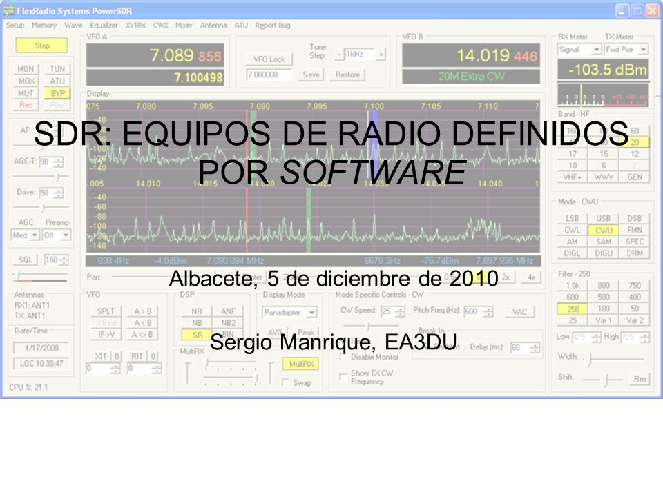 SDR: EQUIPOS DE RADIO DEFINIDOS POR SOFTWARE
