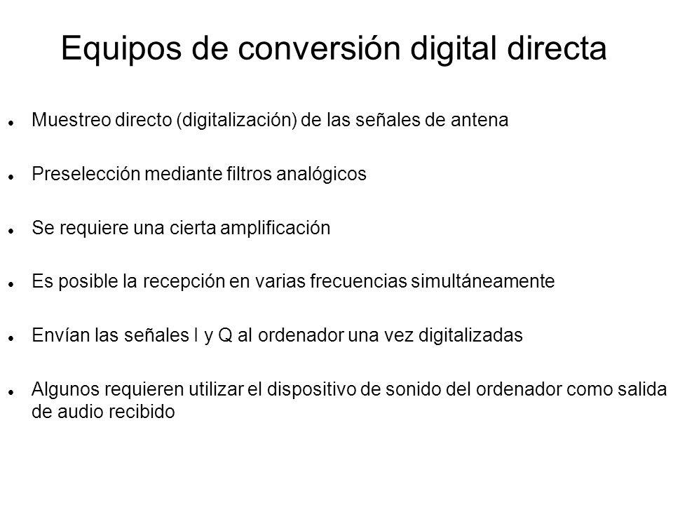 Equipos de conversión digital directa