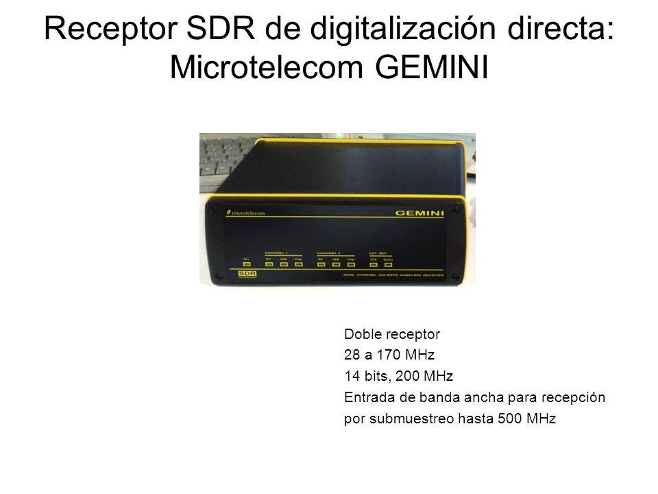Receptor SDR de digitalización directa: Microtelecom GEMINI