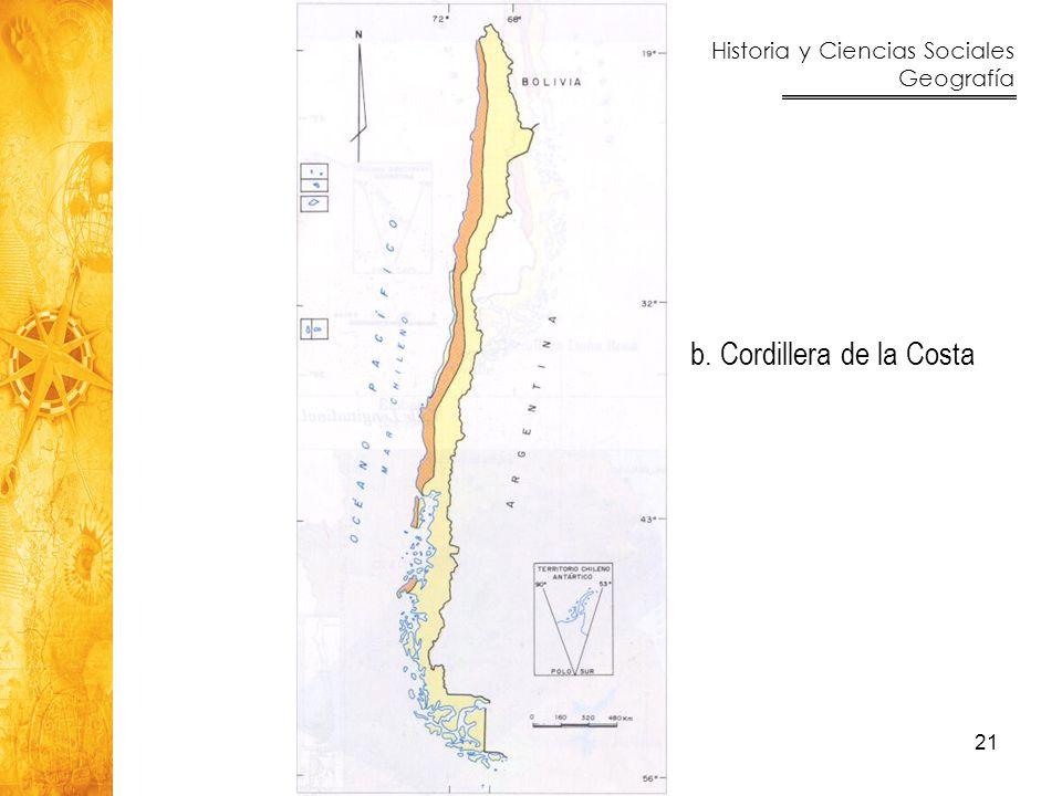 b. Cordillera de la Costa