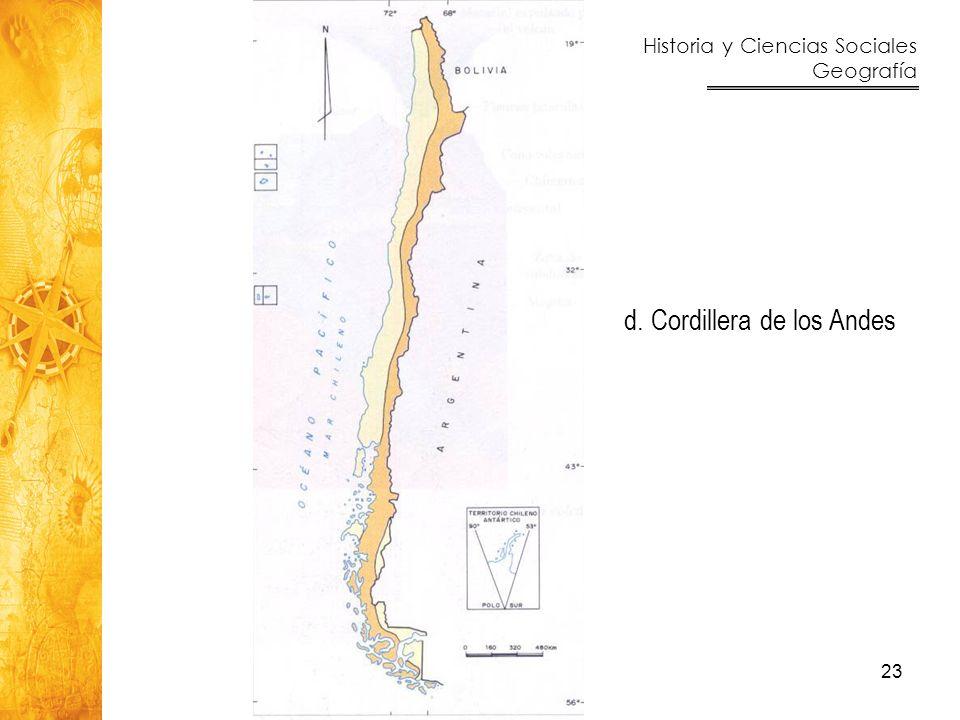 d. Cordillera de los Andes