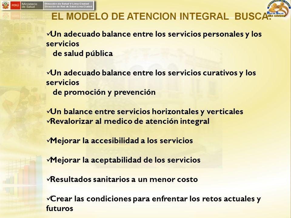 Un adecuado balance entre los servicios personales y los servicios