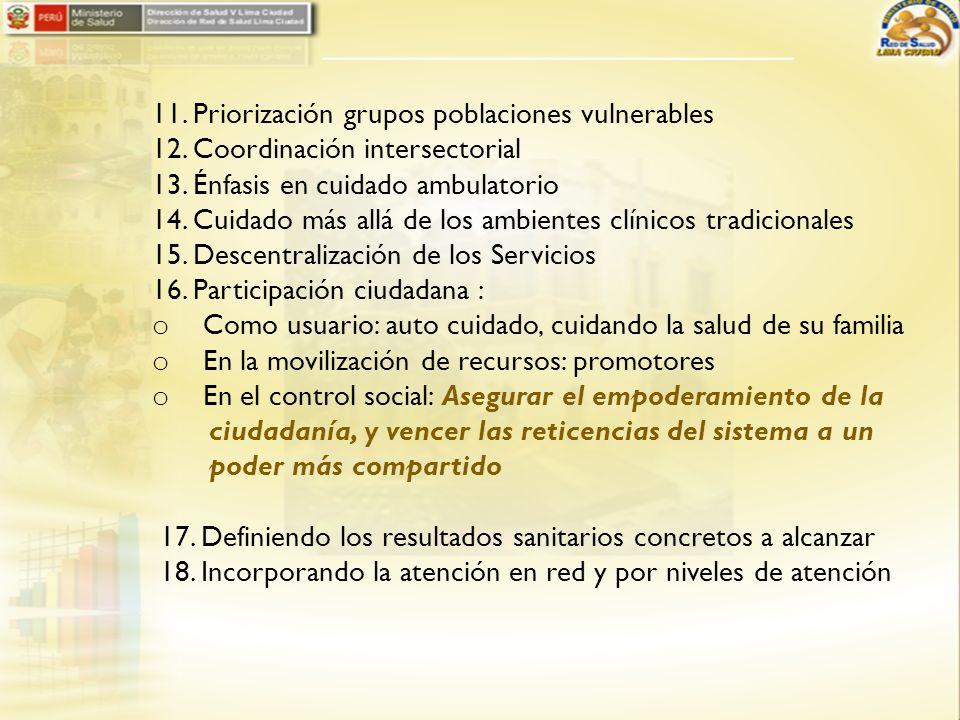 11. Priorización grupos poblaciones vulnerables