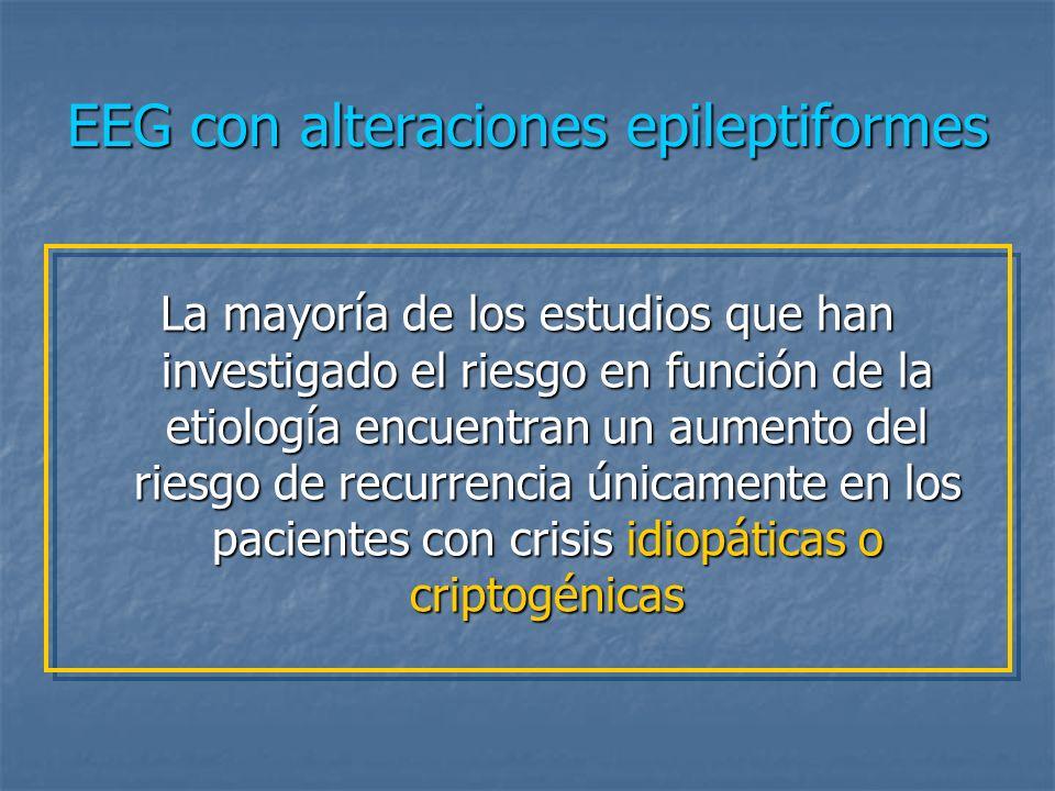EEG con alteraciones epileptiformes