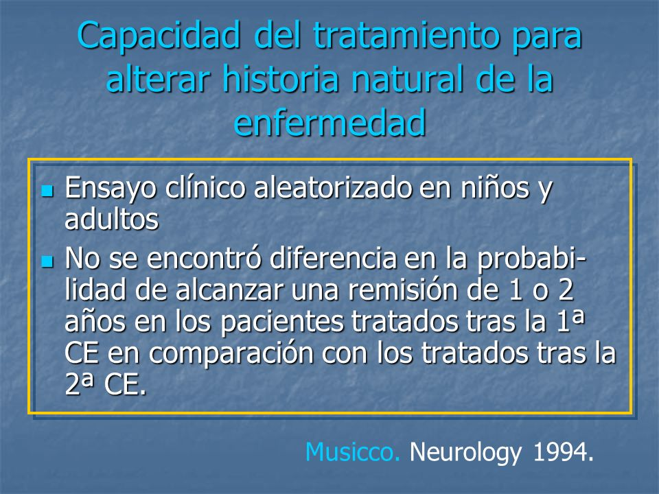 Capacidad del tratamiento para alterar historia natural de la enfermedad