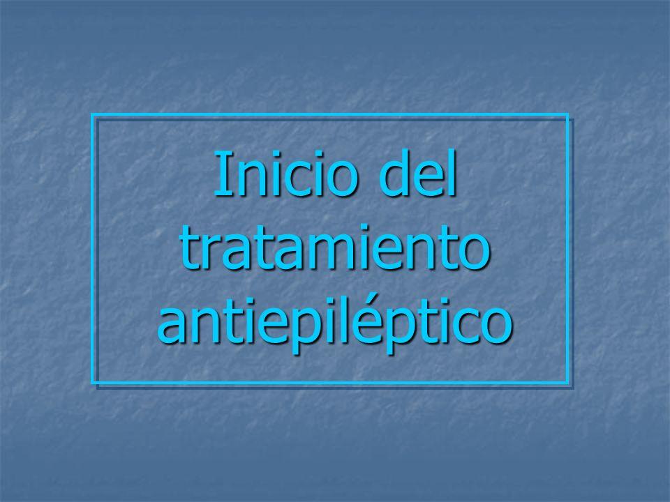 Inicio del tratamiento antiepiléptico