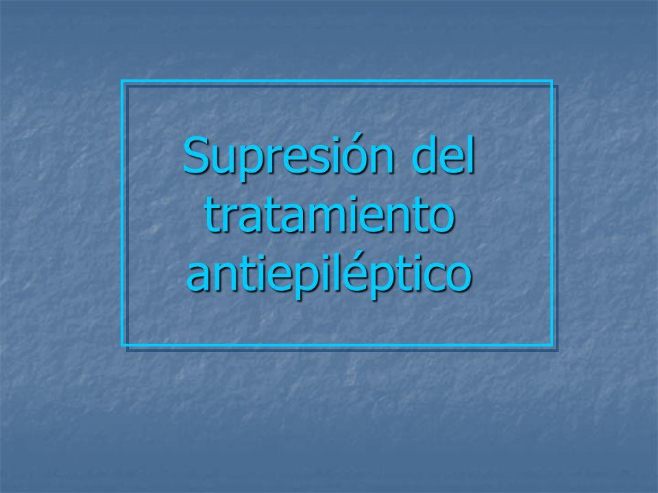 Supresión del tratamiento antiepiléptico