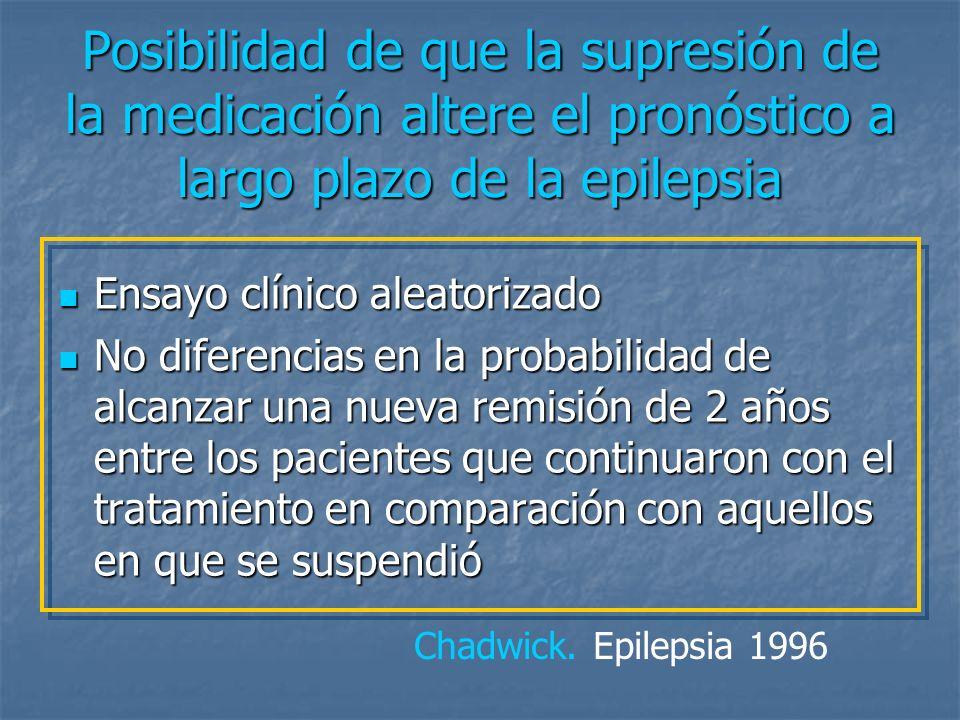 Posibilidad de que la supresión de la medicación altere el pronóstico a largo plazo de la epilepsia